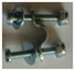 Fastening bow with screw and nut