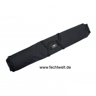 Transport bag for fabric fencing piste