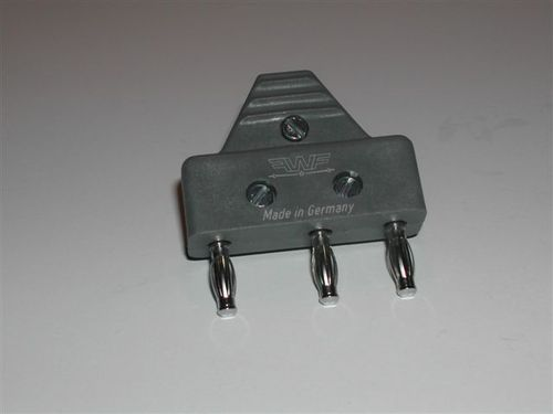 3-pole cable plug, completely assembled