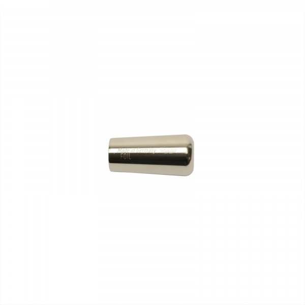 foil pommel, French model, hexagonal, nickel plated, not insulated