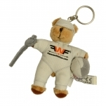 "Key fob ""fencing bear"""