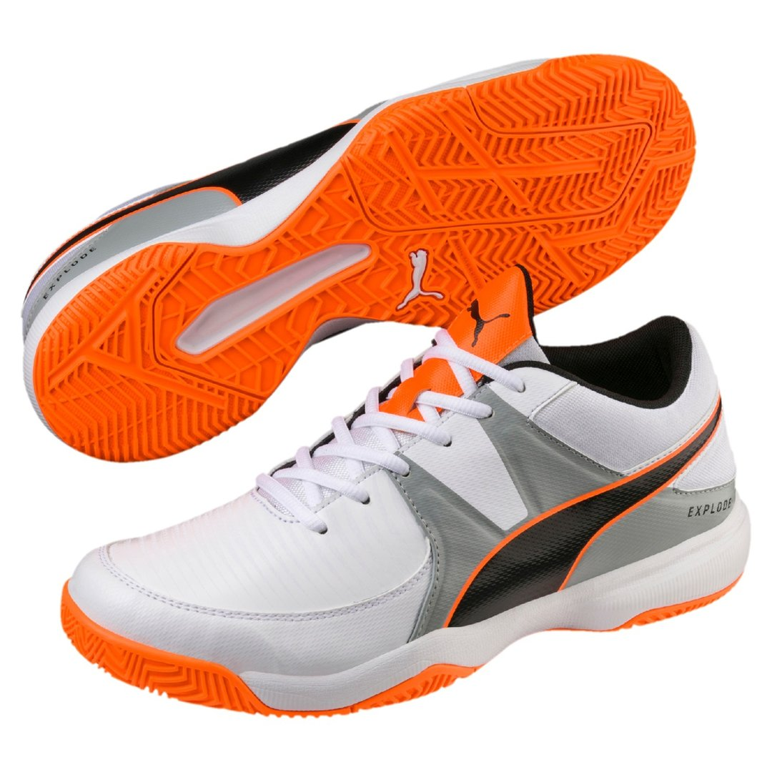 PUMA EXPLODE 2 SPORTSCHUH white-quarry-orange