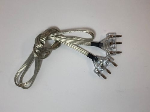 EPEE BODY CORD, clear cable, transparent plugs