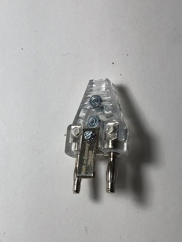 2-PIN CABLE PLUG, transparent