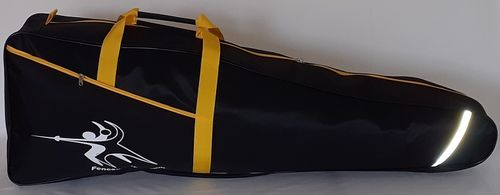 Fencing sack black - yellow carrier straps